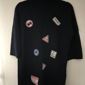ZARA- t shirts dress with cool patches